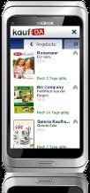 kostenlose Symbian^3-App - kaufDA-App