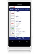 kostenlose Window Phone 7-App - kaufDA-App