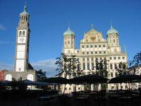 Augsburg, Einkaufen, Shopping, Rathaus, Perlachturm, Puppenkiste, Bayern, Christkindlmarkt